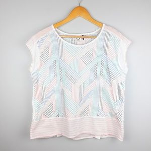 Anthropologie | Akemi + Kin Embroidered TShirt Top